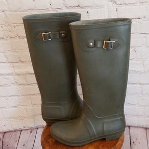 Bamboo Green Rubber Boots